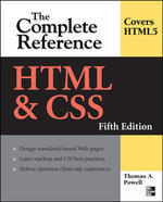HTML and CSS The Complete Reference 5-Ed-Thomas Powell